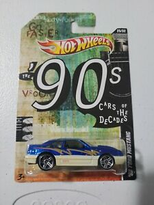 🔥 HOT WHEELS '92 FORD MUSTANG '90 CAR OF THE DECADES  NICE 🔥