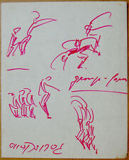 Hand SIGNED DRAWING Modern ISRAEL EXPRESSIONIST DANCE Theatre GERTRUD KRAUS