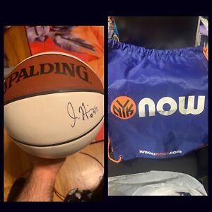 NBA New York Knicks Jordan Hill #43 Signed Basketball Spalding No COA & Bag HTF