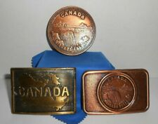 Vintage Canada Niagra Falls Belt Buckle Lot