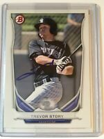 2014 Bowman Draft Baseball Top Prospects #TP-74 Trevor Story on Card Auto (B)