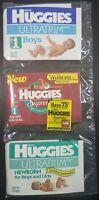 Vintage Huggies Diapers Sample Pack 1993 Supreme & Ultratrim - Sealed