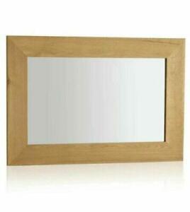 NEW BOXED Cosmopolitan Mirror Natural Solid Oak 900mm x 600mm Wall Mirror. RRP £