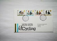 1978 GB First Day Cover / FDC - 100 yrs of Cycling Club Bureau Edinburgh