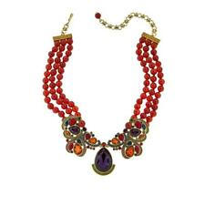 """Heidi Daus """"Gotta Love It"""" Beaded Crystal Drop Necklace 15-3/4"""" with Extender"""