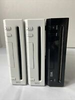 Lot of 3 Nintendo Wii White RVL-001 RVL-101 Console Only FOR PARTS OR REPAIR