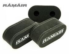 3 x RAMAIR High Flow Full Foam Carb Sock Air Filters British Made - Weber 40