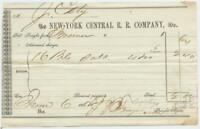Civil War 1862 New York Central Railroad Company Railway Freight Bill Waybill #6