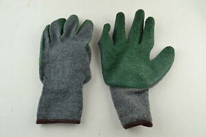 100% Latex Coated Cotton Blend Gloves Green Size L LG LARGE