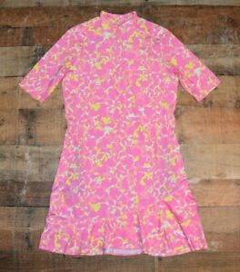 NEW $89 Tail Activewear Reselda UV Protection Golf Dress Quest Pink Print Small