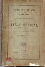 Campagne de 1815  Waterloo Atlas spécial 5 cartes dépliantes  1869