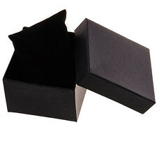 Watch Gift Box Plain Black Suitable Most Gift Watches Bracelets Jewellery XMas