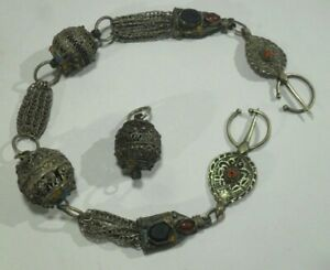 antiker BERBERSCHMUCK vermutlich aus Silber Tuareg Tribe Afrika Kette Kugeln