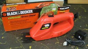 Black & Decker grass shear, clipper - cordless w/ charger