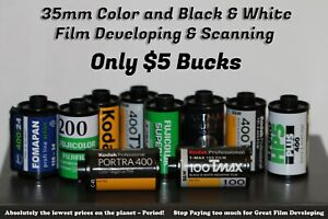 35mm & Disposable Camera Bulk Film Developing C-41 or B&W