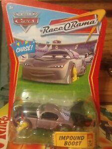 Disney Cars Race O Rama #75 Impound Boost CHASE confetti Benefit NE Flood Victum