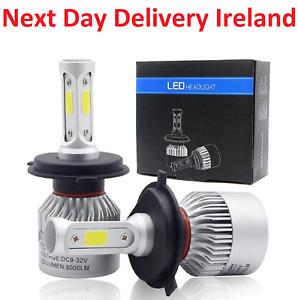 Car Led Headlight Lamp Bulb High Low Beam 6000K Light Replacement Bulbs Head