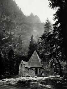1926/63 ANSEL ADAMS Vintage LeConte Memorial Lodge Yosemite Park Photo Art 8x10