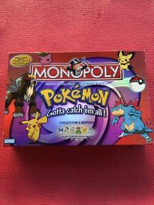 NEW Monopoly Pokemon Collector's Edition Game Hasbro Silver/Gold 2001 Open Box