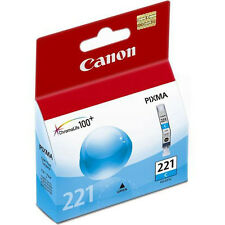 Genuine Canon CLI-221 Cyan ink 221 PIXMA iP3600 iP4600 MP990 MP640 MP560 CLI221