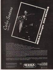 1981 VINTAGE AD Mesa Boogie 300 series Carlos Santana