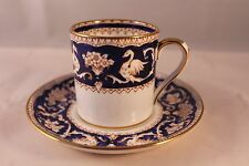 CROWN STAFFORDSHIRE COFFEE CAN CUP & SAUCER ESPRESSO BIRD BASKET FLOWERS 1930's