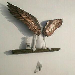 Engel Skulptur dekorative auffällige Harz Flügel Kunst Statue Wanddekoration