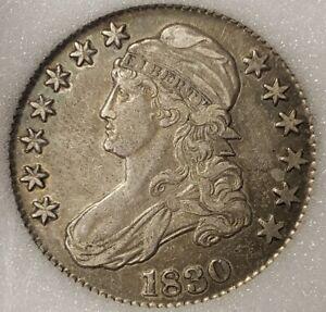 1830 50c Capped Bust Half Dollar - AU Coin - NNC Slab - SKU-B1103