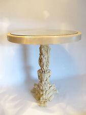 China Beisteller Tisch Kunstguss Harz/Resin 51cm hoch 46cm Dm. Glasplatte