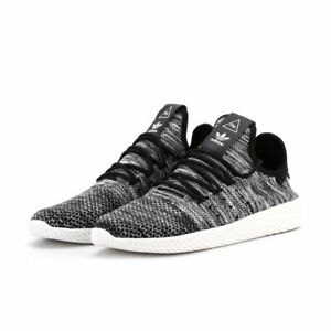 ADIDAS X PHARRELLWILLIAMS Men's Black Tennis HU PK Sneakers US 9.5 NIB
