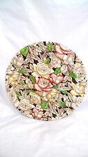 "Vintage MYOTT England BERMUDA Round Platter 13.5"" Chop Plate Brown"