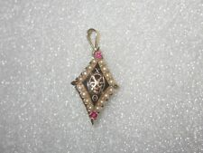 Old 14k Solid Gold Theta Chi Fraternity Pin Badge Pendant