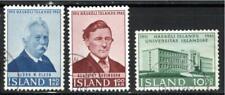 KL6027 1961 Iceland #342-4 Set of 3 Sveinsson Olsen & University Issue VF Used