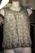 Studio M Womens Blouse Top Size Large Floral Womens NWT (#83) msrp $68.00