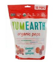 ✅Yum Earth Organic Pops - Assorted Flavours 50 Pops 348g