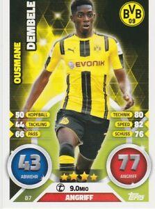 Match Attax Ousmane Dembele Borussia Dortmund  2016 2017  # 87
