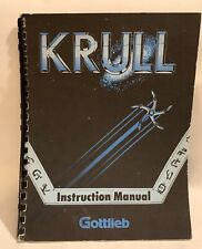 RARE Gottlieb Krull  Manual - Original