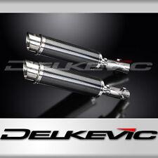 "Honda CB1300DC X-4 14"" Carbon Round Muffler Slip On Exhaust 97 98 99 00 01 02 03"
