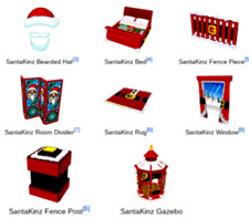 Webkinz online game 8 virtual items CHRISTMAS SANTAKINZ STOCKING buckle set $35