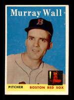 1958 Topps #410 Murray Wall  EX/EX+ X1544828