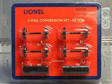 Lionel 2-RAIL CONVERSION KIT 50 TON O GAUGE train 3 rail to 2 car 6-84462 NEW