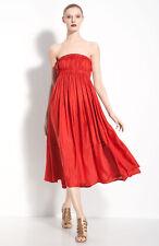 Donna Karan Collection Strapless Habutai Silk Dress  ( Size M)