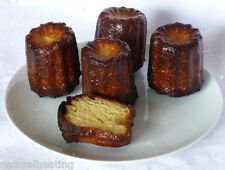 8 LARGE Canele Cannele Silicone Bakeware Cake Mould Tin French Fluted Mold Pan