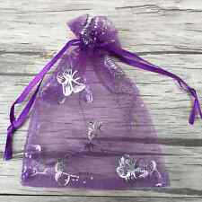 100 Organza Gift Bags Jewellery Christmas Butterfly Pouches Wedding Party Favour