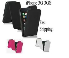 PU LEATHER FLIP CASE COVER FOR APPLE IPHONE 3G 3GS