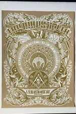 The Mars Volta: Austin 2008 Poster Jared Connor (Mexican Chocolate) Gold Edition