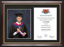 "Graduation Certificate and Photo Frame for 8"" x 10"" photo and A4 certificate"