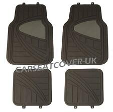 Smart ForFour - Black/Grey HEAVY DUTY Front Rear RUBBER CAR Floor MATS