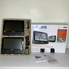 "Philips PET9402/37 9"" Dual-Screen Portable DVD Player Headrest Complete"