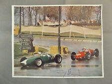 MAGAZINE PHOTO HAND SIGNED BY TONY MARSH - BRM FERRARI 1962 BRUXELLES GRAND PRIX